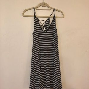 Urban Outfitters Black & White ribbed dress